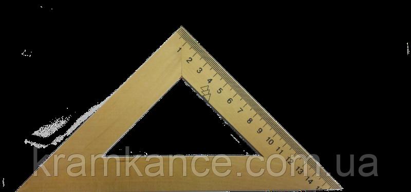 Треугольник деревянный 45х45х90 16 см, фото 2