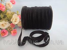 Лента бархатная, 1 см, цвет черный