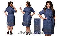 Легкое нарядное летнее платье лен размеры 52,54,56,58
