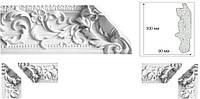 Карниз (вставка угол) с орнаментом. Декоративная гипсовая лепнина