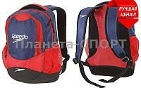Рюкзак спортивный SPEEDO 8074187522 POOL (PL, р-р 30х18,5х47см, сине-красный)