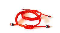 Браслет - оберег Красная шёлковая нить, правильное плетение, унисекс