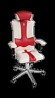 Крісло Elegance (Елеганс) екошкіра біла-червона (ТМ Kulik System)