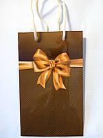 Пакет подарочный бумажный мини 8х13х4 (20-001)