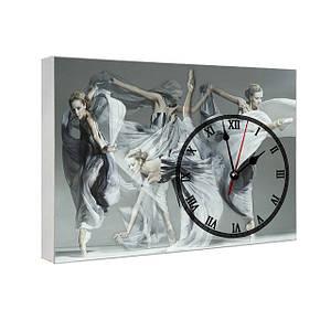 Часы на холсте с принтом Балет 29х41 см