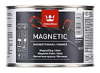 Краска магнетик водоразбавляемая для внутренних работ Tikkurila, 0,5 л (серый)