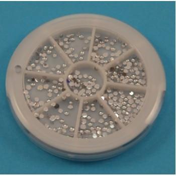 Стразы в каруселях (мелкие серебрянные)
