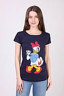 Трикотажная футболка с коротким рукавом
