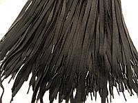 Шнурки для обуви (200см) плоские, черные (упаковка 36пар, Ø 10мм)