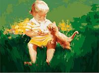 Рисование по номерам. Дети - Два малыша 40х50см (MG1027)