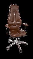 Кресло Galaxy (Галакси) экокожа коричневая (ТМ Kulik System)