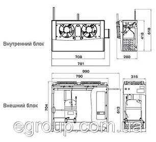 Спліт-система Polair SM 218 S, фото 2