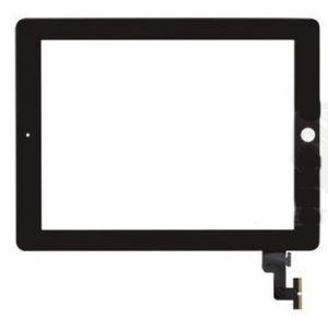 Тачскрин сенсор iPad 2 (A1395, A1396, A1397) черный полный комплект (HQ)