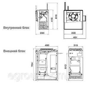 Спліт-система-холодильна Polair SM 115 S, фото 2