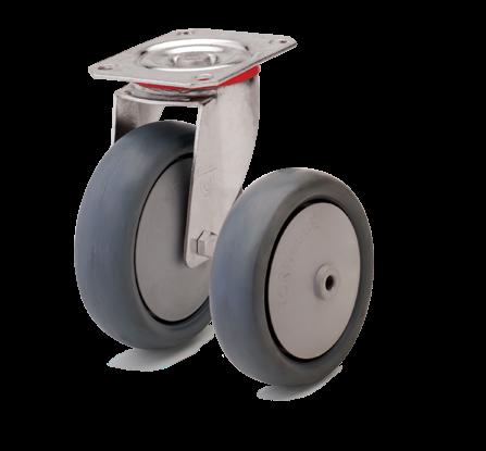Аппаратные колеса. Нагрузка 80 - 220 кг. t 0/+80С. Серия 62
