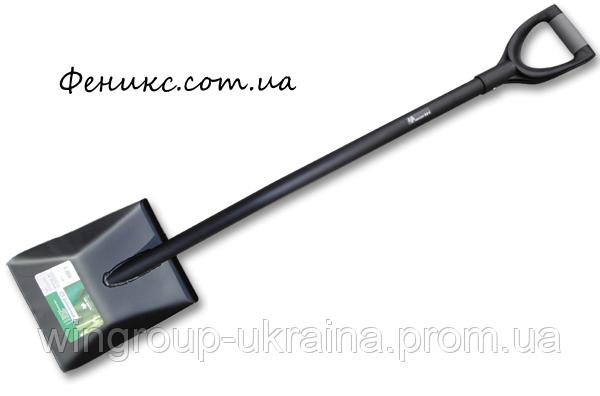 Лопата совковая с металлическим черенком, фото 2