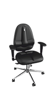 Кресло Classic (Классик) экокожа черная (ТМ Kulik System)