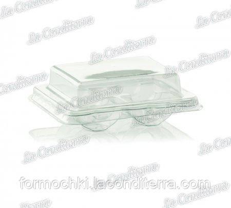 Контейнер для печенья макарон с крышкой, пластиковый, прозрачный TM «Polo Plast» 063000