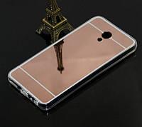 Силиконовый зеркальный чехол для Meizu M5 Note