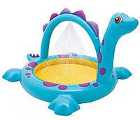 Мини бассейн для детей Intex 57437: винил, фонтанчик, надувное дно, 229х165х117 см, 5 кг