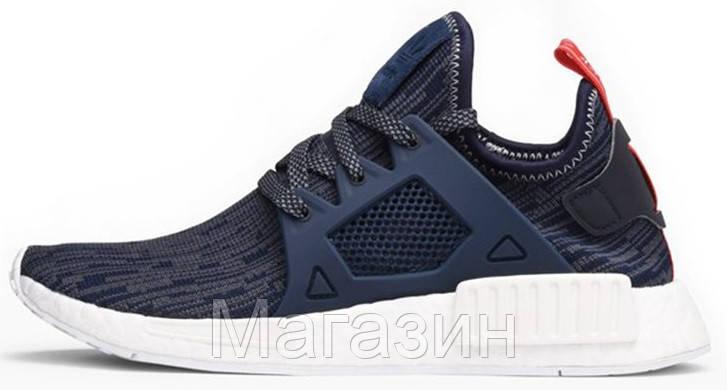 Женские кроссовки Adidas NMD XR1 Primeknit Адидас НМД синие