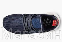 Женские кроссовки Adidas NMD XR1 Primeknit Адидас НМД синие, фото 2