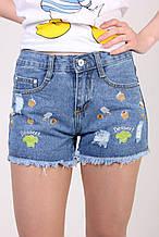 Молодежные джинсовые шорты