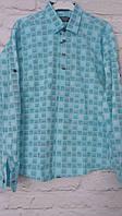 Рубашка  клетка на кнопке подросток 10-15 лет