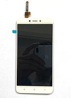 Оригинальный дисплей (модуль) + тачскрин (сенсор) для Xiaomi Redmi 4X   4X Pro (белый цвет)