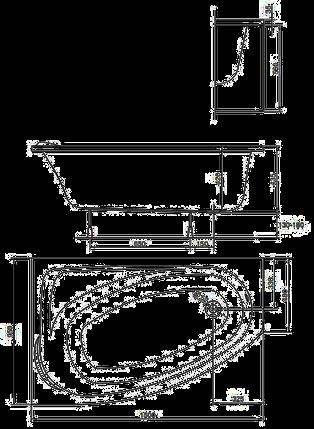 Ванна акриловая Kolo MYSTERY 150х95 см левая, фото 2