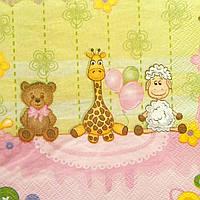 Салфетка декупажная 15x15см 21 Детские игрушки (товар при заказе от 200 грн)