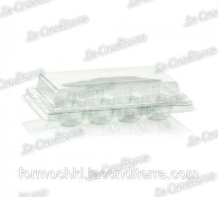 Контейнер для печенья макарон с крышкой, пластиковый, прозрачный TM «Polo Plast» 063100