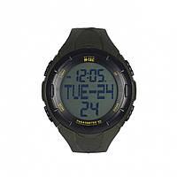 Мужские наручные часы спортивные военные / Годинник з крокоміром олива M-TAC