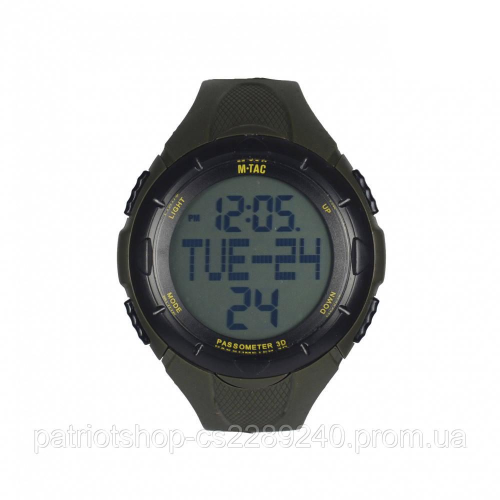 Мужские наручные часы спортивные военные   Годинник з крокоміром олива  M-TAC - PatriotShop в a723e686a6b0a