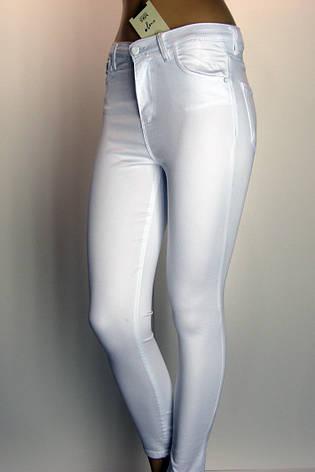 Білі жіночі джинси з високою посадкою  із знижкою, фото 2