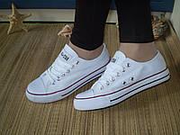 Женские КЕДЫ AIL цвет:БЕЛЫЙ, подошва 2,5См, материал-обувной текстиль.Без коробки.Белоснежные