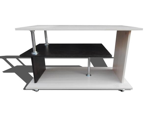 Журнальный столик Аленка сж-02 дуб молочный+дуб венге