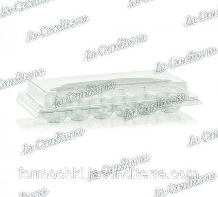 Пластиковый контейнер с крышкой, прозрачный, на 12 изделий 063200