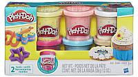 Набор пластилина Play-Doh 6 баночек с конфетти (B3423)