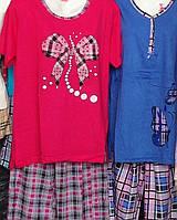 Пижамы женские больших размеров с коротким рукавом