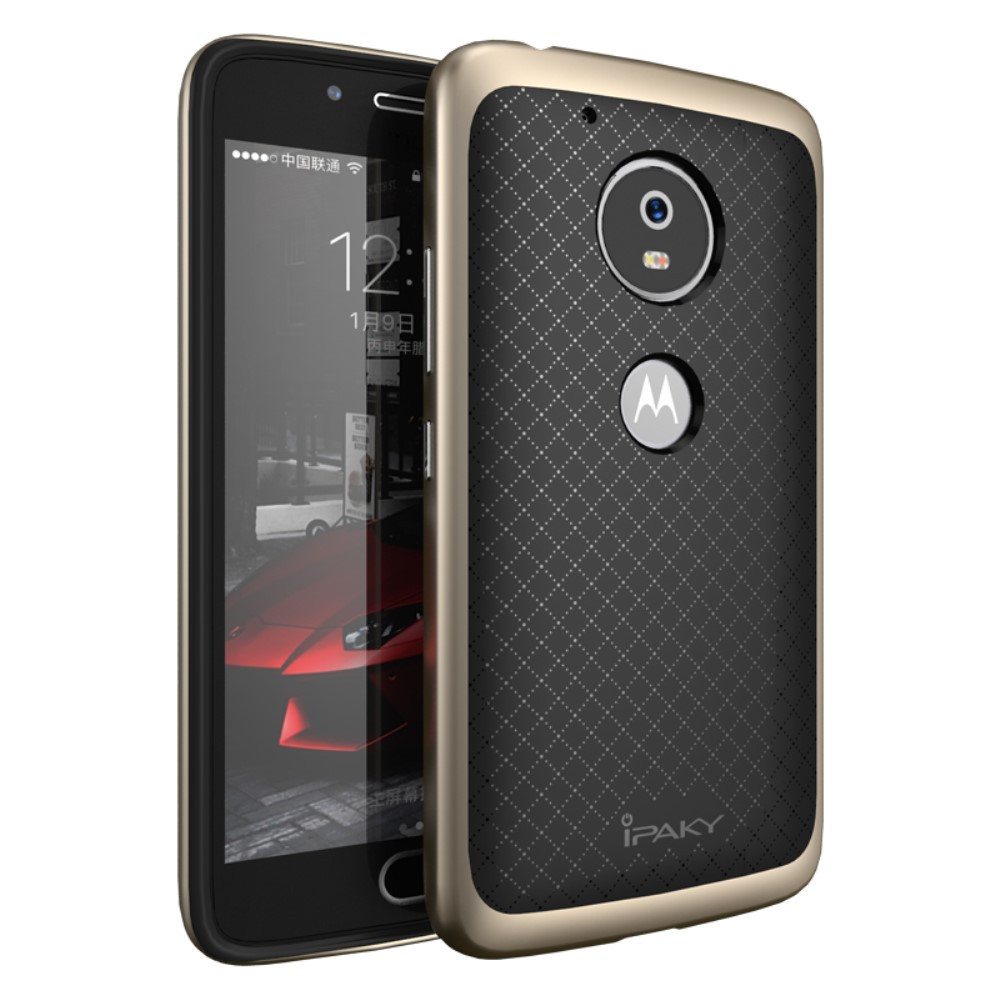 Чехол накладка IPAKY TPU + бампер PC для Motorola Moto G5 золотой