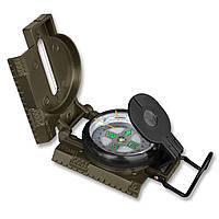 Армейский компас / Компас в сталевому корпусі з підсвідкою олива Mil-Tec