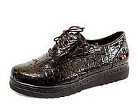 Женские полуботинки на шнурках т-коричневые  р.(36-40)