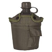 Фляга армейская с чехлом / Фляга США з підстаканником в чохлі олива Mil-Tec