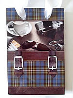 Пакет подарочный бумажный мини 8х13х4 (20-006)