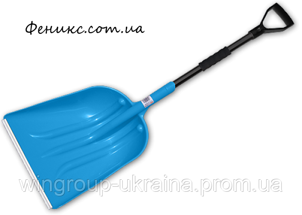 Лопата пластиковая с металлическим черенком, фото 2