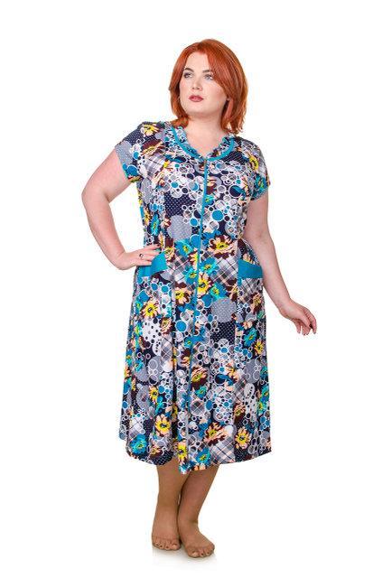 f514cc0f55306 Летний халат с цветами большого размера, цена 431,65 грн., купить в ...