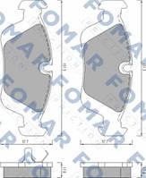 Тормозные колодки дисковые BMW ( пр-во FOMAR FO 472081)