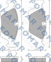 Гальмівні колодки дискові BMW ( пр-во FOMAR FO 472081)