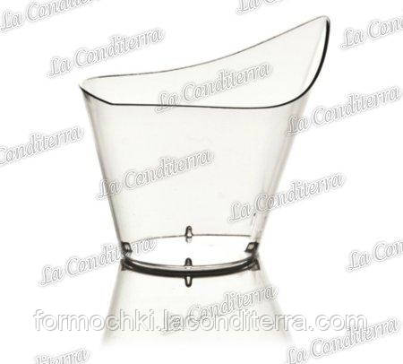 Пластиковый прозрачный стакан «Goccia» 411 (120 мл)
